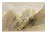 Ascent of the Lower Range of Sinai, February 18th 1839, Plate 114 Giclee Print by David Roberts
