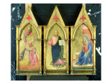 The Archangel Gabriel; Christ the Redeemer; the Virgin Annunciate on Gold Ground Panels, Giclee Print by Agnolo Gaddi