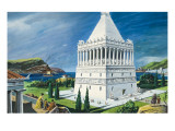 The Mausoleum in Halicarnassus, Completed in 353 Bc Giclee Print by Ruggero Giovannini