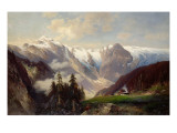 Mountain Landscape with the Grossglockner, 1878 Reproduction procédé giclée par N. Astudin