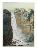 Tequendama Waterfall on the Bogota River, Colombia Giclee Print by Gerolamo Fumagalli