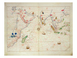 The Indian Ocean, from an Atlas of the World in 33 Maps, Venice, 1st September 1553 Reproduction proc&#233;d&#233; gicl&#233;e par Battista Agnese