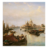 The Bacino Di San Marco, Looking Towards the Mouth of the Grand Canal Giclee Print by Edward Pritchett