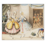 Characters from 'Cosi Fan Tutte' by Mozart, 1840 Giclee Print by Johann Peter Lyser