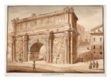 The Arch of Septimius Severus in the Year 1788, 1833 Giclee Print by Agostino Tofanelli