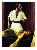 Sir Laurence Olivier on Stage in the National Theatre Production of Shakespeare's Othello Giclee Print by Ralph Bruce