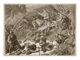 The 'Lady of the Mercians' Fighting the Welsh Giclee Print by Edouard Zier