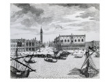 View of Piazza San Marco from the Bacino, Venice Giclee Print by Francesco Zucchi Or Zucco