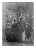 Alfred, Lord Tennyson with His Wife Emily and Two Sons, Hallam and Lionel, C.1862 Giclee Print by Oscar Gustav Rejlander