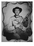 Unknown Confederate Soldier Posing in Photographer's Studio Giclee Print by American Photographer