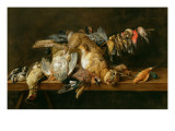 Still Life of Dead Birds and a Hare on a Table, 1647 Giclee Print by Adriaen van Utrecht