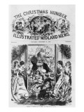 Bringing in Christmas, Front Cover of the 'Illustrated Midland News', December 18th 1869 Lmina gicle por Fritz Eltze