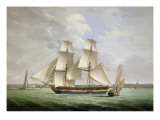 An Armed Merchantman and Other Shipping on the River Mersey Off Liverpool Giclee Print by Joseph Jenkinson