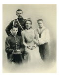 Family Portrait of Princess Zenaida Yusupova, Count Felix Sumarokov-Elston and Giclee Print by Russian Photographer 