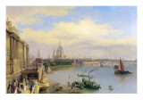 The Thames and St. Paul's Cathedral from Somerset House Giclee Print by William Parrott