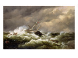 Rescue on the Goodwin Sands by the North Deal Lifeboat Giclee Print by Edward William Cooke