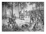 Confederate Attack at the Battle of Gettysburg, 1863 Premium Giclee Print by  American School