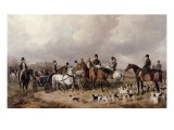 Meet of the Prince Consort's Harriers at Windsor in the Great Park, 1845 Giclee Print by Henry Barraud