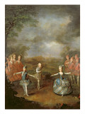 Marie Antoinette and Her Sisters in 'Il Trionfo Dell' Amore, Performed on 25th January Premium Giclee Print by Johann Georg Weikert