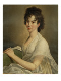 Portrait of the Widowed Constanze Mozart, 1802 Giclee Print by Hans Hansen