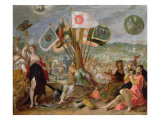 Allegory of the Turkish Wars: the Battle of Hermannstadt Giclee Print by Hans von Aachen