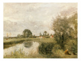 View of Arleux from the Marshes of Palluel, 1873 Giclee Print by Jean-Baptiste-Camille Corot