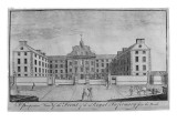 A Perspective View of the Front of the Royal Infirmary from the North, C.1746 Reproduction procédé giclée par John Elphinstone