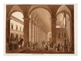The Main Staircase of the Palazzo Del Quirinale, 1833 Giclee Print by Agostino Tofanelli