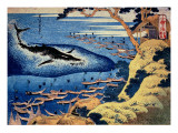 Whaling Off the Goto Island, from the Series 'Oceans of Wisdom' Giclée-Druck von Katsushika Hokusai