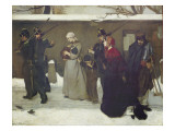 What Is Called Vagrancy Or, the Hunters of Vincennes, 1854 Giclee Print by Alfred Emile Stevens