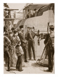 The French Fleet at Cronstadt: Visit of the Czar, 1891 Giclee Print by William Heysham Overend