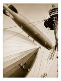 Germany's Two Mighty Airships, the 'Graf Zeppelin' and the 'Hindenburg' Giclee Print by  German photographer