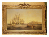 Malta, with French Ship `Charlemagne' and English Ship `Trafalgar' Giclee Print by John Wilson Carmichael
