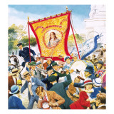 Protestant March in Ulster, Northern Ireland Giclee Print by Mario Capaldi