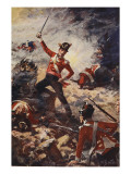 Colin Campbell Leading the Forlorn Hope at San Sebastian Giclee Print by William Barnes Wollen