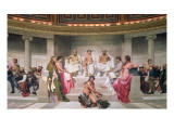 Hemicycle: Artists of All Ages, Detail of Ictinus, Apelles and Phidias, 1836-41 Giclee Print by Hippolyte Delaroche
