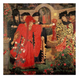 Choosing the Red and White Roses in the Temple Garden, 1910 Giclée-tryk af Henry Payne