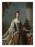 Charlotte Sophia of Mecklenburg-Strelitz, 1762 Giclee Print by Allan Ramsay