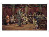 Jesus Washing the Disciples' Feet, Illustration for 'The Life of Christ', C.1886-94 Giclee Print by James Jacques Joseph Tissot