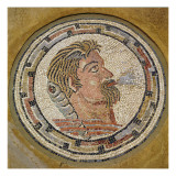 Head of a Man, Roman Mosaic from the House of Orpheus, 3rd Century Ad Giclee Print by  Roman