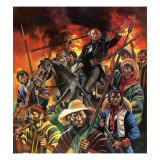 The Unfinished Revolution. Father Hidalgo and the Mexican Revolution Giclee Print by Ron Embleton