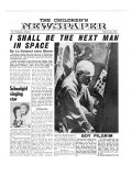 Colonel John Glenn, Front Page of 'The Children's Newspaper', 1961 Giclee Print by English School
