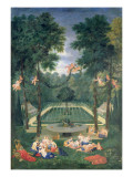 Groves of Versailles, View of the Marais with Venus and Echo, 1688 Giclee Print by Jean Cotelle the Younger
