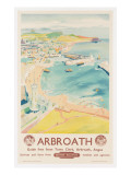 Arbroath, Poster Advertising British Railways, C.1950 Premium Giclee Print by  English School