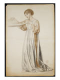 Study for a Pall Bearer in 'Dante's Dream', 1873 Giclee Print by Dante Gabriel Rossetti