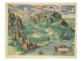 View of Antique Thessaly from the 'Atlas Major', 1662 Gicléedruk van Joan Blaeu