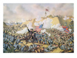 Capture of Fort Fisher, 15th January 1865, Engraved by Kurt and Allison, 1890 Premium Giclee Print by  American School
