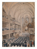 The Inauguration of the City Councillors in the Church of St. Nicholas, 1808 Giclee Print by F.A. Calau