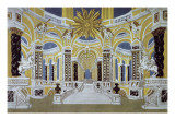 Set Design for 'The Magic Flute' by Wolfgang Amadeus Mozart Giclee Print by French School