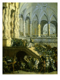 Christ Driving the Money Lenders from the Temple Giclee Print by Francois de Nome